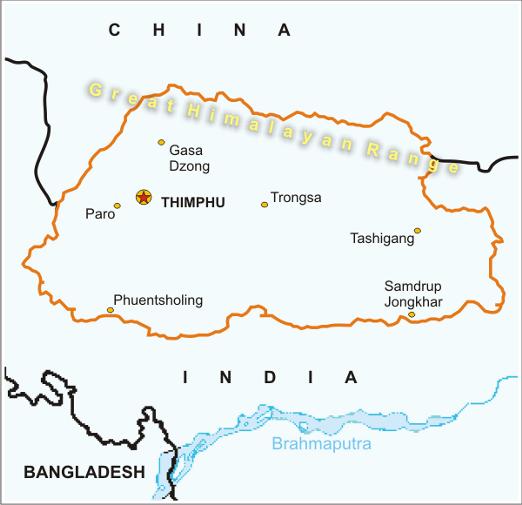 Bhutan Creative Tours - Where is bhutan